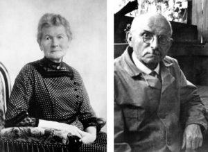 Links: Die Mutter Marie Friederike Apitz, geborene Anhalt. Rechts: Der vermutlich leibliche Vater Max Frölich. (Quelle: Privatbesitz Marlis Apitz)