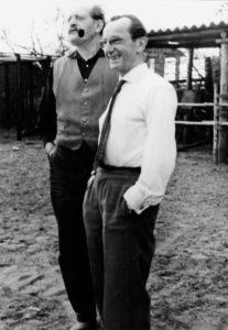 Bruno Apitz mit Erwin Strittmatter auf dem Schulzenhof, 1962 (Quelle: Privatbesitz Marlis Apitz)
