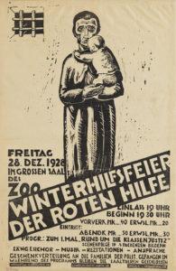 Plakat, Linolschnitt von Bruno Apitz, angefertigt 1928 Quelle: Deutsches Historisches Museum, Berlin, Foto: Indra Desnica